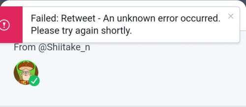 tjdeckも同様にリツイートできないスクリーンショット